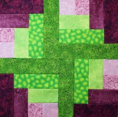 The Quarter 4 Log cabin block.... this color combo is fabulous!