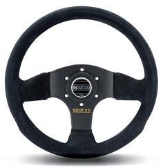 Sparco Racing 300mm Suede Steering Wheel - Black