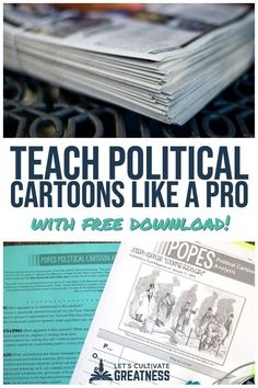 Teach ANY cartoon, historical or modern, using this one easy strategy. Includes step-by-step instructions and tips that you can start using tomorrow in your high school history or civics class… More Social Studies Notebook, Social Studies Classroom, Social Studies Activities, History Classroom, Teaching Social Studies, History Teachers, Teaching History, History Education, Classroom Hacks