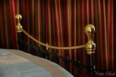 The brass top rail succeeds in bringing the bed to life in any setting. Old Beds, Old Things, Iron, Brass, Traditional, Classic, Handmade, Life, Design