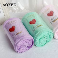 AOKEE arrival brief Bath Towels Embroidered Solid 100% cotton Towels for Adults travel beach amily bath towel three color A0032