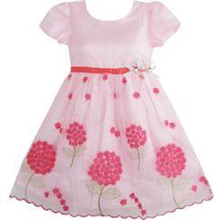 Girls Dress Pink Tree Pageant Wedding Party Kids Dress Size 4-5 Sunny Fashion,http://www.amazon.com/dp/B00960WQSY/ref=cm_sw_r_pi_dp_YJ86qb00SP0HP475