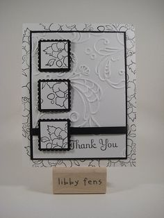 Love the black and white-- could use fern stamp
