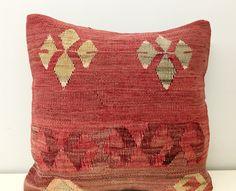Kilim colorati 16 X 16 cuscino di lana federe di artdecopillow