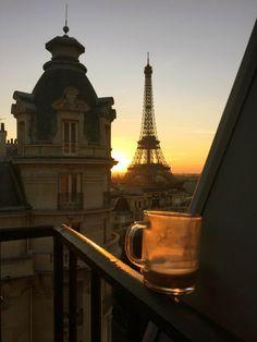 Torre Eiffel Sunset Río Sena enmarcado impresión De Lona única Pared Arte