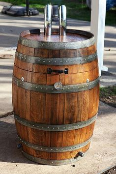 Pimped out homemade wine barrel barbecue grill / smoker