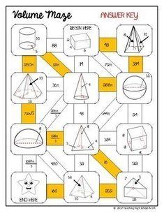 Geometry Mazes Bundle by Teaching High School Math Teaching Multiplication, Math Fractions, Teaching Math, Math Board Games, Math Games, Simplifying Algebraic Expressions, Geometry Worksheets, Pythagorean Theorem, Math Graphic Organizers