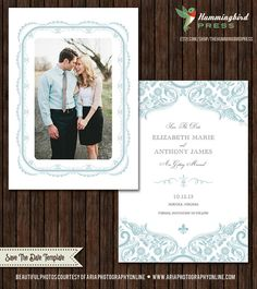 INSTANT Download  PSD 5x7 Save the Date by TheHummingbirdPress, $8.00
