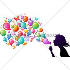 cartoon bubbles