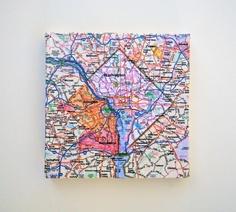 Washington DC Map on Canvas by yinsteadofi on Etsy