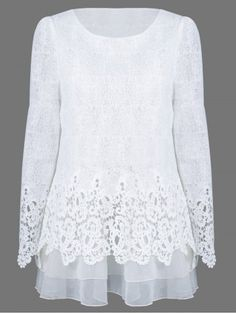 GET $50 NOW | Join RoseGal: Get YOUR $50 NOW!http://www.rosegal.com/blouses/mesh-patchwork-layered-lace-blouse-715837.html?seid=cshrj0ck5oln6ac4m7a692s3e5rg715837