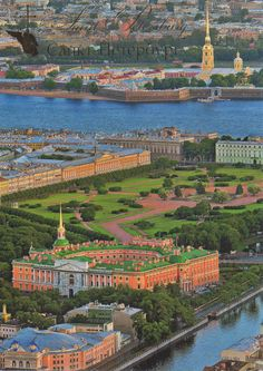 Bird's-eve view of St Michael's Castle, also called the Mikhailovsky Castle or the Engineers' Castle, is a former royal residence in the historic centre of Saint Petersburg, Russia.