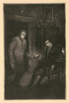 Ilustraciones de HUGO STEINER-PRAG para Der Golem de GUSTAV MEYRINK que son inspiración para Nosferatu de Murnau.