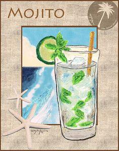 Mojito by William Depaula - Mojito Mixed Media - Mojito Fine Art Prints and Posters for Sale