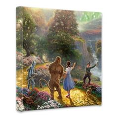 Thomas Kinkade  Gallery Wrapped Canvas  Dorothy Discovers the Emerald City  14 x 14  54768 >>> You can find more details by visiting the image link. (This is an affiliate link)
