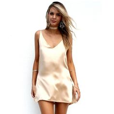 Cheap bodycon dress, Buy Quality party dresses directly from China slip dress Suppliers: Sexy V Neck Satin Slip Dresses Summer Women Sleeveless Mini Halter Evening Bodycon Dress Club Wear Female Party Dress Night Dress For Women, Party Dresses For Women, Club Dresses, Cheap Dresses, Sexy Dresses, Mini Dresses, Short Dresses, Loose Dresses, Dresses 2016
