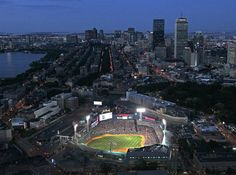 Fenway at Night. Is there anything prettier?