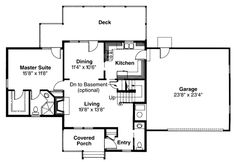 First Floor Plan of Country   Farmhouse  House Plan 69212