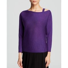 Eileen Fisher Petites Asymmetric Neck Sweater