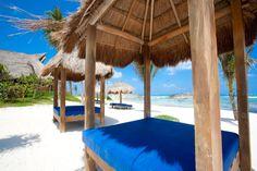 the beach at El Pez Hotel Tulum beach