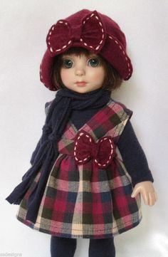 """PATSY WILL BE OFF TO SCHOOL IN STYLE! FOR 10""""ANN ESTELLE, ETC.MADE BY SSDESIGNS"""