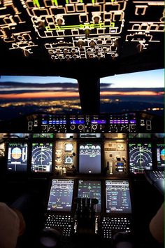 Good Night! @Airbus A380 cockpit