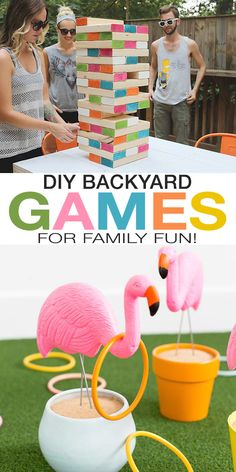 DIY Backyard Games for Family Fun! - DIY Backyard Games for Family Fun! Check out these backyard games for kids and adults to help you make the garden a fun and active place for your family. Lots of Easy DIY projects! Diy Garden Projects, Outdoor Projects, Diy Craft Projects, Projects For Kids, Diy And Crafts, Diy Garden Games, Backyard Games Kids, Backyard Ideas, Diy Shops