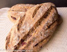 Seeded Sourdough Cranberry Spelt Loaves