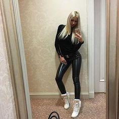 Follow If Not Yet  #instagood #instadaily #love #beautiful #cute #happy #smile #shoutout #picoftheday #photooftheday #girl #hot #sexy #fame #model #follow4follow #latex #leather #pvc #spandex #tight #black #wet #wetlookingleggings #wetlook #shiny #leggings #pants #shinypants
