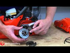 How to Replace the Clutch on a Chainsaw - FINALLY! I was wondering how to do… Chainsaw Repair, Chainsaw Parts, Wooden Footstool, Lawn Mower Repair, Yard Tools, Woodworking Power Tools, Lawn Equipment, Engine Repair, Home Repair