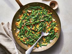Early Summer Succotash with green beans, corn, shallot, basil Vegetable Side Dishes, Vegetable Recipes, Vegetarian Recipes, Cooking Recipes, Healthy Recipes, Cooking Time, Delicious Recipes, Easy Recipes, Vegetarian Lunch