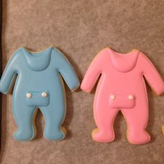 Onesie cookies with a drop seat.