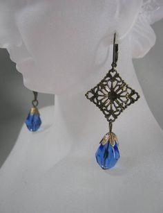 Titanic Earrings - Edwardian Jewelry - 1920s Earrings - Downton Abbey Jewelry - Jane Austen Jewelry
