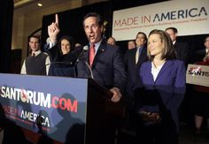 Jubilant Santorum sweeps Minnesota and Colorado