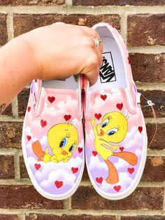 Vans Slip On Shoes, Custom Vans Shoes, Custom Painted Shoes, Painted Vans, Painted Sneakers, Hand Painted Shoes, Custom Sneakers, Art Shoes, Disney Painted Shoes