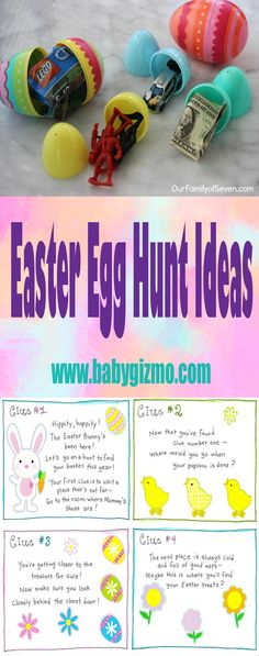 Here are some fun Easter egg hunt ideas for you to try! #Easter #EggHunt