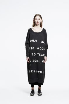 5PREVIEW FLAGSHIP STORE — AW2013/14: Long Over Sized Sweater Dress - YOHJI