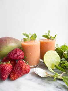 Try this Beauty Booster Smoothie in Mango Strawberry!