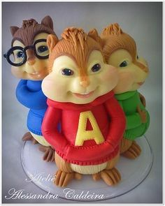 Alvin and the Chipmunks | Alessandro Caldeira | Gumpaste Figures
