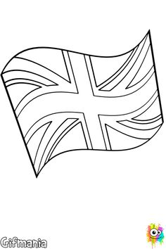 Learn the flag of United Kingdom by coloring pages! #flags #unitedkingdom #coloringpages