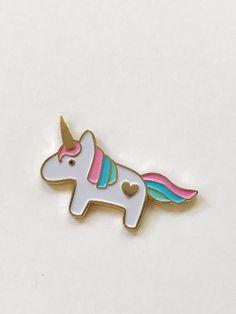 Limited Edition Soft Enamel  Unicorn Lapel by DesignandHappiness