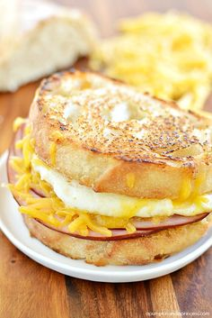 Ham and Fried Egg Breakfast Sandwich - A Pumpkin And A Princess
