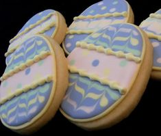 I'm working tonight on some *new* Easter cookies, but here are some blasts from the past for a little Easter cookie decorating