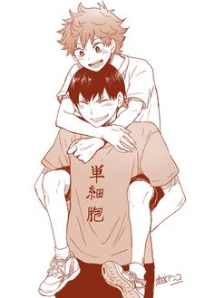 Image via We Heart It https://weheartit.com/entry/135510369 #haikyuu #hinatashouyou #kageyamatobio #kagehina