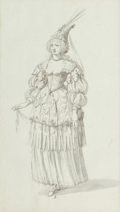 Reinette: Costumes by Inigo Jones and Buontalenti.  Another costume study for Chloris,1631
