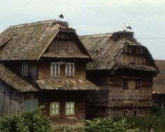 Europe: Lukavec, Croatia. Along the River Kupa and River Sava, two-storey houses were prevalent, the successors to pile-dwellings.