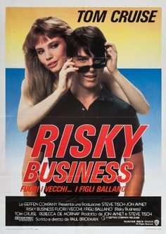 Risky Business (1983) A #Chicago #teenager is looking for #fun at home while his #parents are away, but the situation quickly gets out of hand. #tomcruise #RebeccaDeMornay#movie