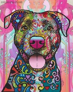 Pit Bull Puppies The Unmistakable Pit Bull Limited Edition Print Arte Pop, Dog Paintings, Dog Portraits, Pitbull Terrier, Dog Art, Dog Love, Dog Breeds, Pitbulls, Art Projects