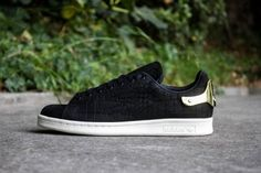 ADIDAS STAN SMITH METAL NOIR OR