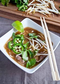 Pho Bo - I made this last night and it was DELICIOUS!!!  This is one of my absolute favorite dishes, and I'm stoked to have a great recipe for it :0)